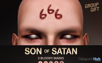 Son of Satan Face Tattoo October 2019 Group Gift by Mad' - Teleport Hub - teleporthub.com