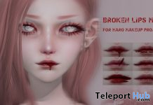 Broken Lips October 2019 Gift by HARO - Teleport Hub - teleporthub.com