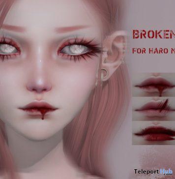 Broken Lips October 2019 Gift by HARO- Teleport Hub - teleporthub.com