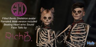 Skeleton Avatar Unisex Halloween 2019 Group Gift by E-Clipse Design - Teleport Hub - teleporthub.com