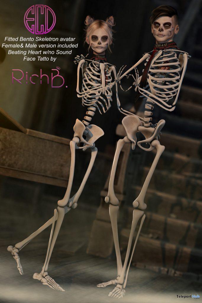 Skeleton Avatar Unisex Halloween 2019 Group Gift by E-Clipse Design - Teleport Hub - teleporthub.com