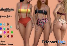 Julie Swimsuit Fatpack October 2019 Group Gift by Animale - Teleport Hub - teleporthub.com