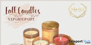 Fall Candles October 2019 Group Gift by {what next} - Teleport Hub - teleporthub.com
