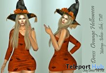 Orange Halloween Dress 1L Promo Gift by LS DIAMOND - Teleport Hub - teleporthub.com