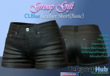 Basic Leather Short October 2019 Group Gift by CLBlue - Teleport Hub - teleporthub.com