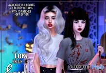 Spooky Knotted Tee October 2019 Group Gift by Loki - Teleport Hub - teleporthub.com