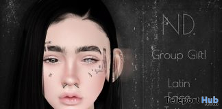 Latin Face Tattoo October 2019 Group Gift by ND - Teleport Hub - teleporthub.com