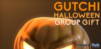 Pumpkin Head Halloween 2019 Group Gift by GUTCHI - Teleport Hub - teleporthub.com