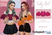Teddy Bat October 2019 Group Gift by Safira - Teleport Hub - teleporthub.com