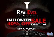 Skull Halloween Choker October 2019 Group Gift by RealEvil Industries - Teleport Hub - teleporthub.com