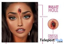 Bullet Hole Head Tattoo October 2019 Group Gift by Amuse Bouche - Teleport Hub - teleporthub.com