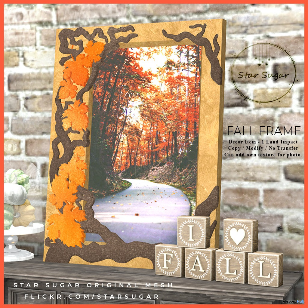 Fall Frame October 2019 Group Gift by Star Sugar - Teleport Hub - teleporthub.com