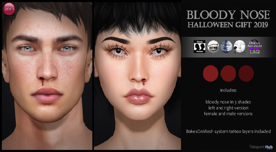 Bloody Nose Unisex Appliers September 2019 Gift by Izzie's - Teleport Hub - teleporthub.com