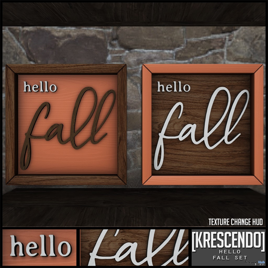 Hello Fall Frame Set October 2019 Subscriber Gift by [Krescendo] - Teleport Hub - teleporthub.com