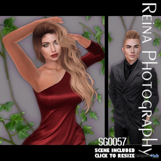 Single Pose Pack SG0057 October 2019 Gift by Reina Photography - Teleport Hub - teleporthub.com