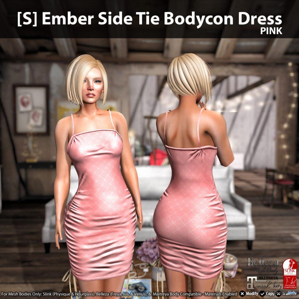 New Release: [S] Ember Side Tie Bodycon Dress by [satus Inc] - Teleport Hub - teleporthub.com