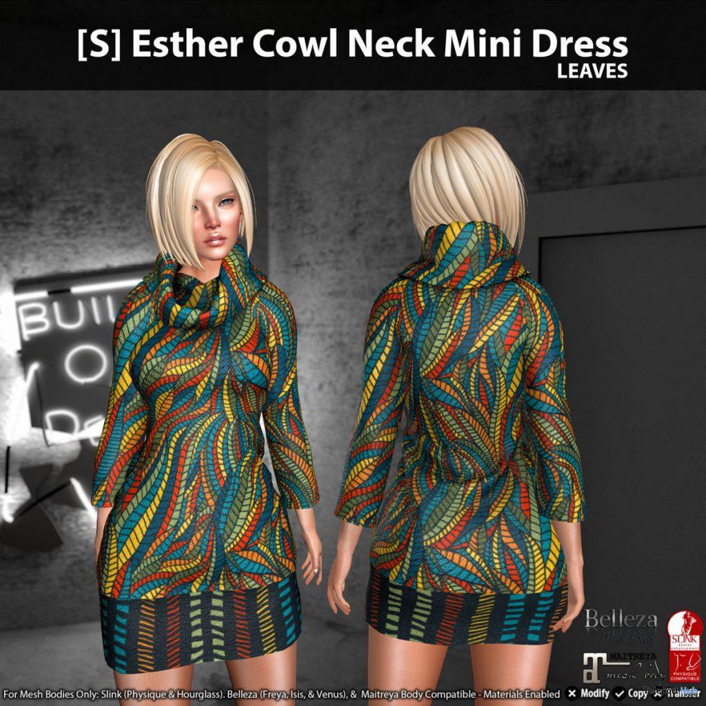 New Release: [S] Esther Cowl Neck Mini Dress by [satus Inc]- Teleport Hub - teleporthub.com