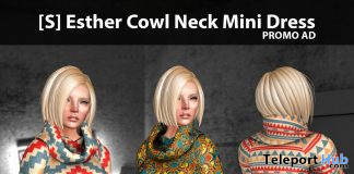 New Release: [S] Esther Cowl Neck Mini Dress by [satus Inc] - Teleport Hub - teleporthub.com