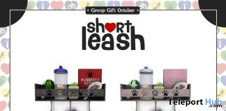 Leash & Treat Station Kitty Version October 2019 Group Gift by Short Leash - Teleport Hub - teleporthub.com