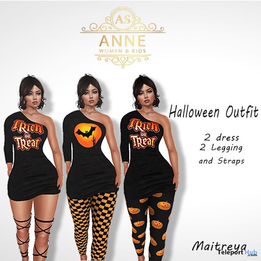 Halloween Outfit October 2019 Group Gift by Anne Store- Teleport Hub - teleporthub.com