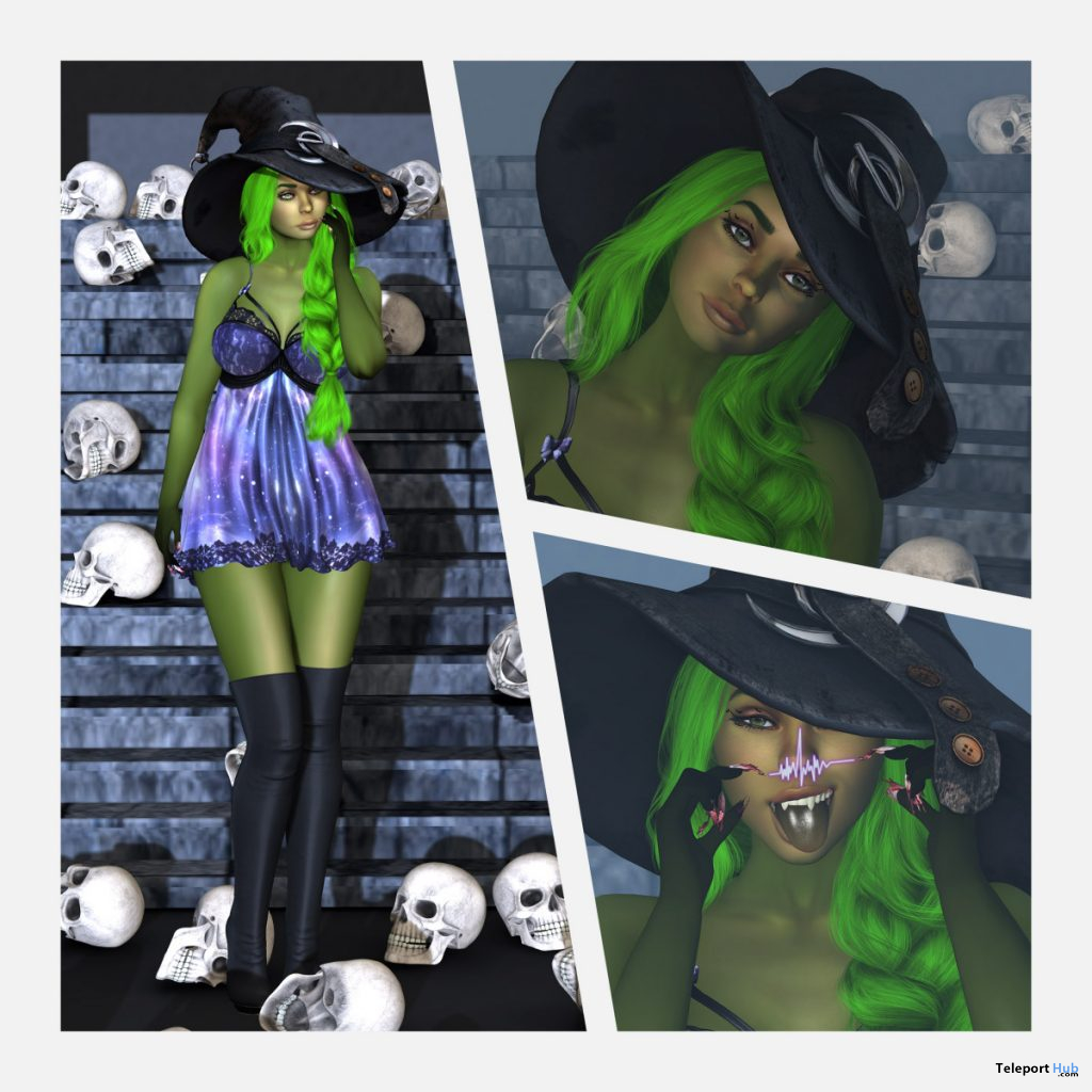Witch 2019 Skin & Shape Pack October 2019 Group Gift by i.Evolve - Teleport Hub - teleporthub.com