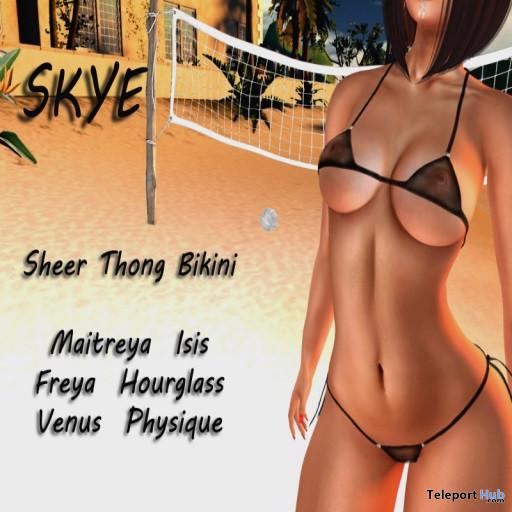 Skye Sheer Thong Bikini Black October 2019 Group Gift by XTC Designs- Teleport Hub - teleporthub.com