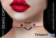 Dejavu Choker October 2019 Group Gift by VOBE- Teleport Hub - teleporthub.com