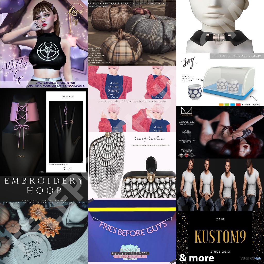 Several Group Gifts @ Kustom9 Anniversary October 2019 by Various Designers - Teleport Hub - teleporthub.com