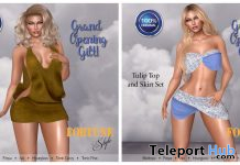 Tulip Top & Skirt And Drape Dress Grand Opening October 2019 Gift by FORTUNE Style - Teleport Hub - teleporthub.com