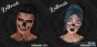 Halloween Masks V1 & V2 October 2019 Group Gift by Katharsis - Teleport Hub - teleporthub.com