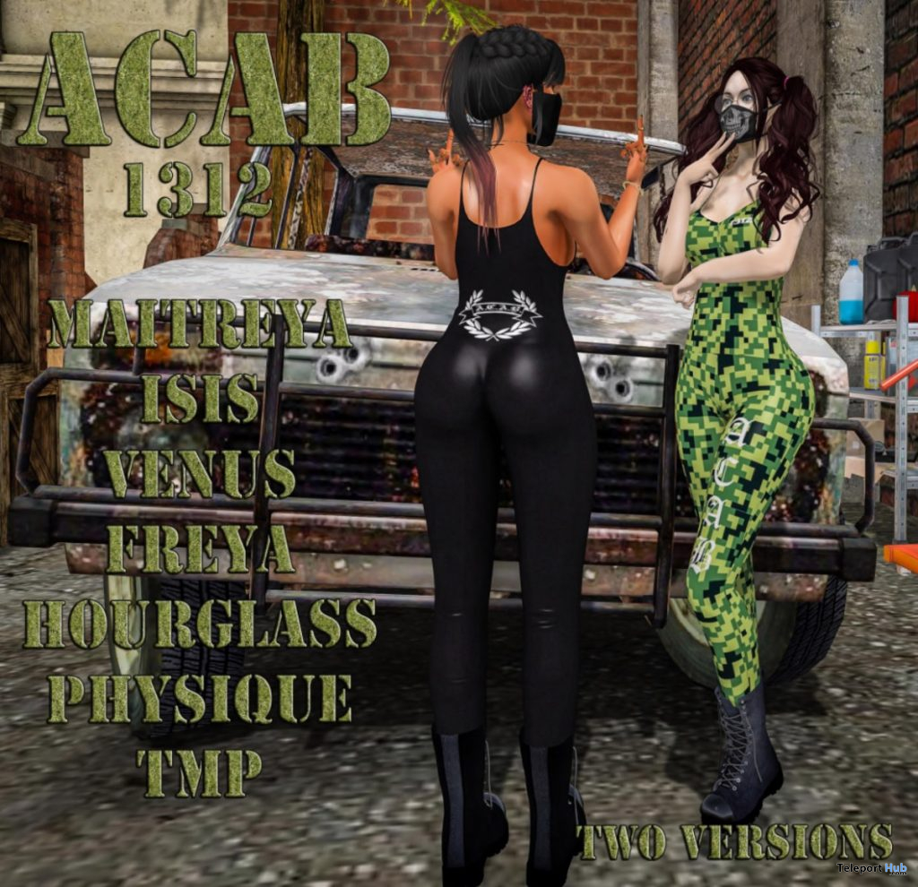 ACAB1312 Outfit Black and Camo October 2019 Group Gift by PutOn- Teleport Hub - teleporthub.com
