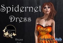 Spidernet Dress 10L Promo by Continuum Fashion - Teleport Hub - teleporthub.com