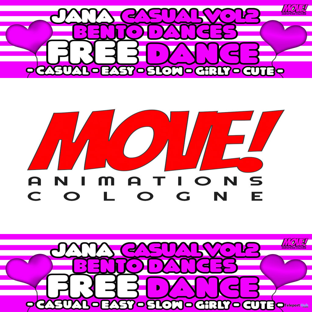 Jana 95 Bento Dance October 2019 Gift by MOVE! Animations Cologne - Teleport Hub - teleporthub.com