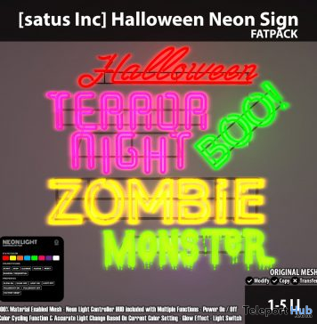 New Release: Halloween Neon Sign by [satus Inc]- Teleport Hub - teleporthub.com
