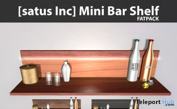New Release: Mini Bar Shelf Fatpack by [satus Inc] - Teleport Hub - teleporthub.com