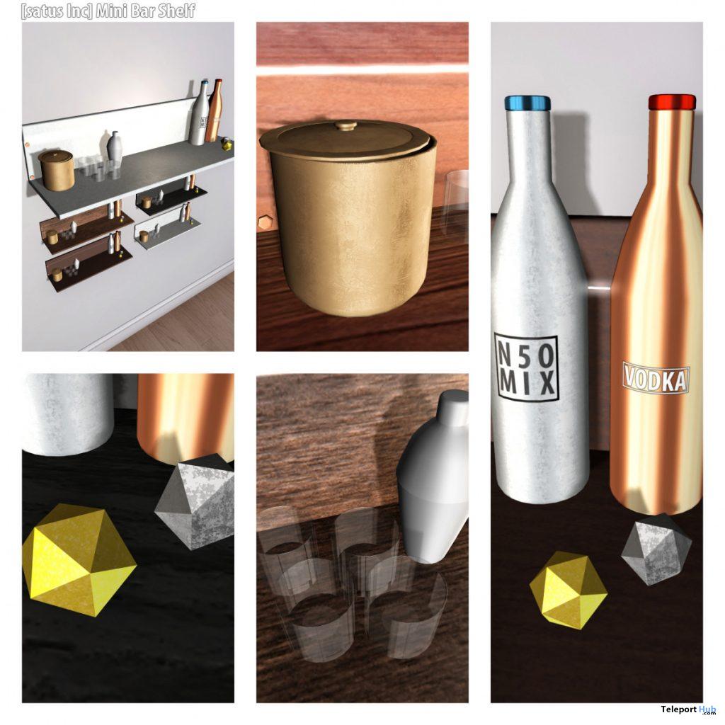 New Release: Mini Bar Shelf Fatpack by [satus Inc] - Teleport Hub - teleporthub.com