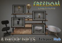 Chair, Globe, Lamp, & Table Group Gifts by Freedom Creations - Teleport Hub - teleporthub.com