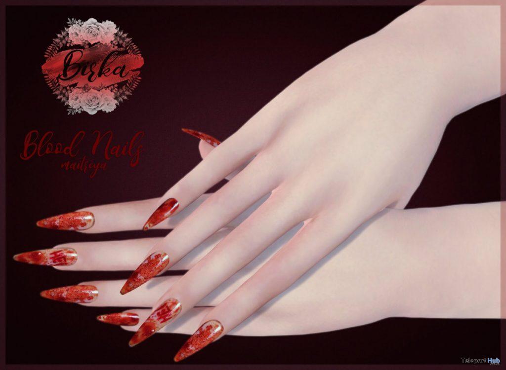 Blood Nails For Maitreya Halloween 2019 Gift by BIRKA - Teleport Hub - teleporthub.com