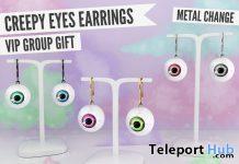Creepy Eyes Earrings Halloween 2019 Group Gift by Blah - Teleport Hub - teleporthub.com