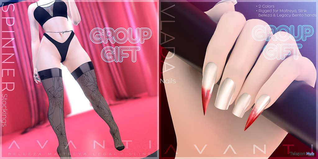 Spinner Stockings & Vlada Nails Halloween 2019 Group Gift by AVANTI - Teleport Hub - teleporthub.com