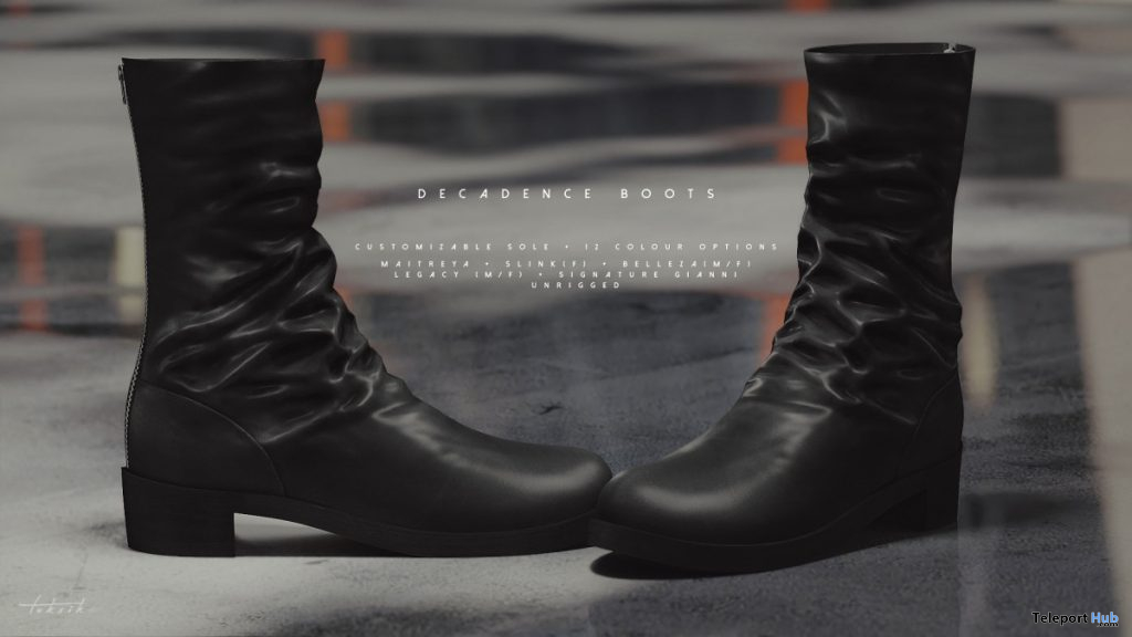 New Release: Decadence Boots by toksik @ After Paripi Event November 2019 - Teleport Hub - teleporthub.com