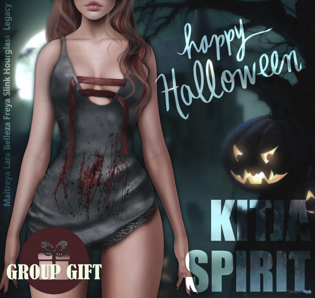 Bloody Dress Halloween 2019 Group Gift by SPIRIT x KITJA - Teleport Hub - teleporthub.com