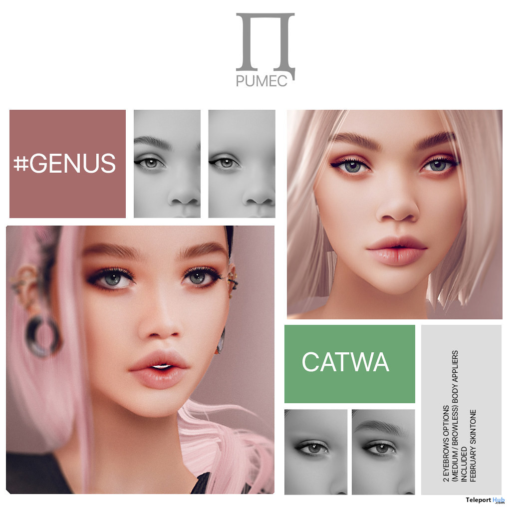 Zara & Bianka Skin Appliers November 2019 Group Gift by PUMEC - Teleport Hub - teleporthub.com