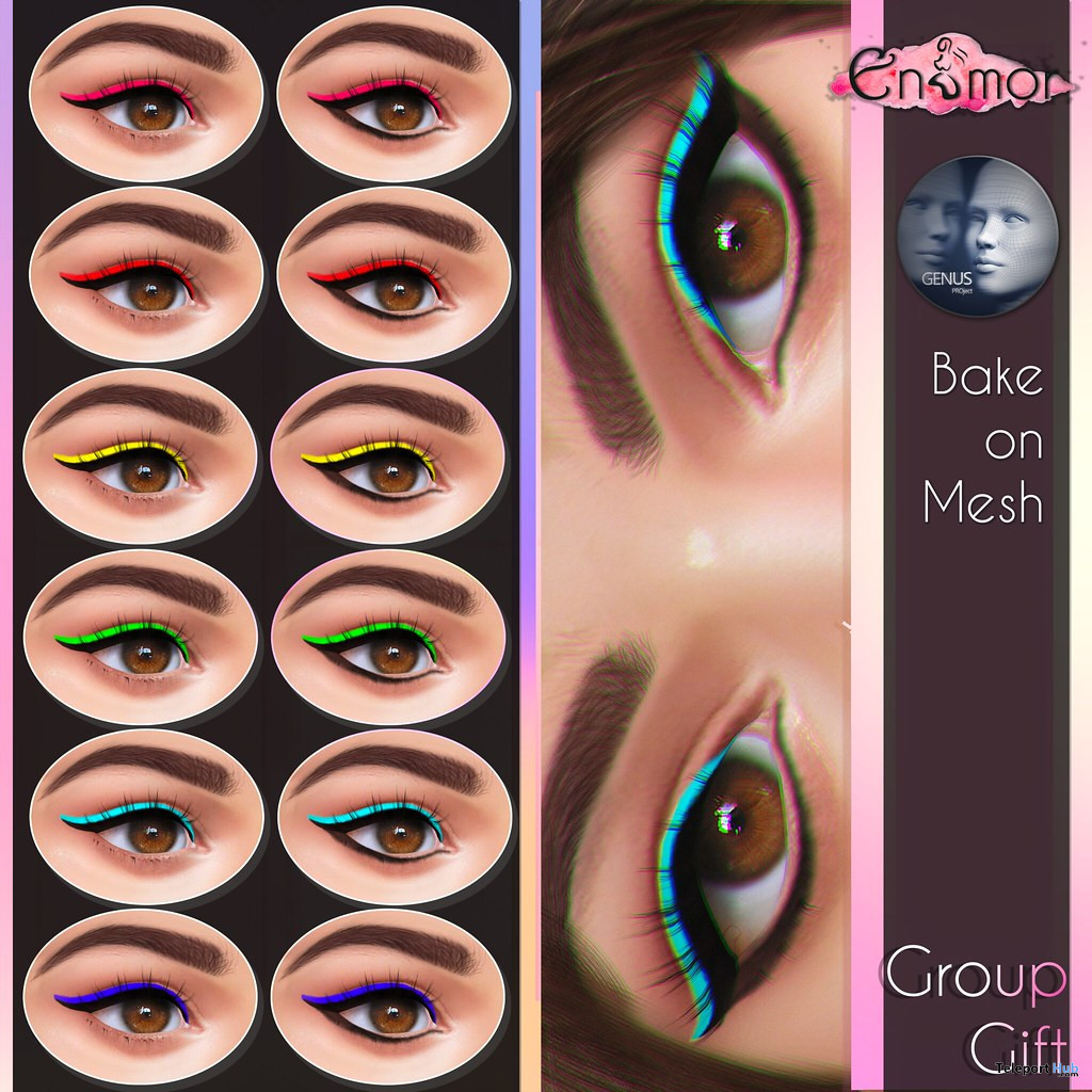 Eyeshadow Pack November 2019 Group Gift by Enamor - Teleport Hub - teleporthub.com