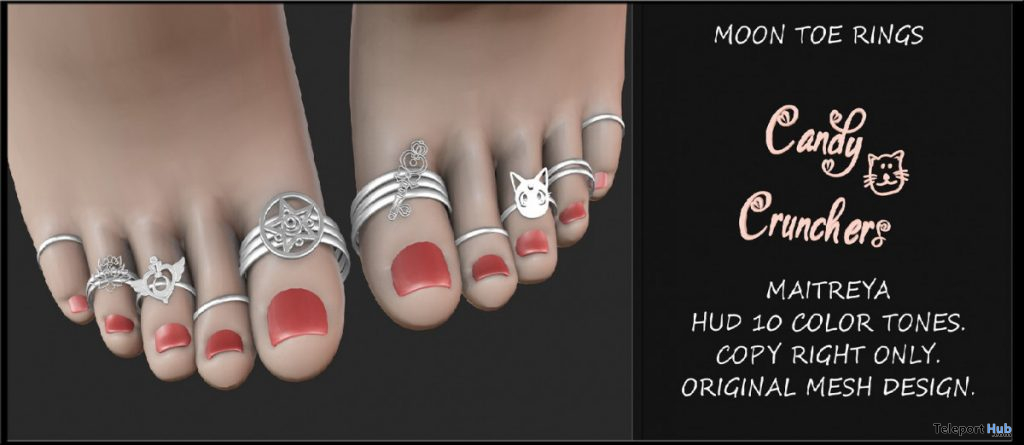 Moon Toe Rings November 2019 Group Gift by Candy Crunchers - Teleport Hub - teleporthub.com