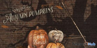 Autumnal Pumpkins November 2019 Group Gift by vespertine - Teleport Hub - teleporthub.com