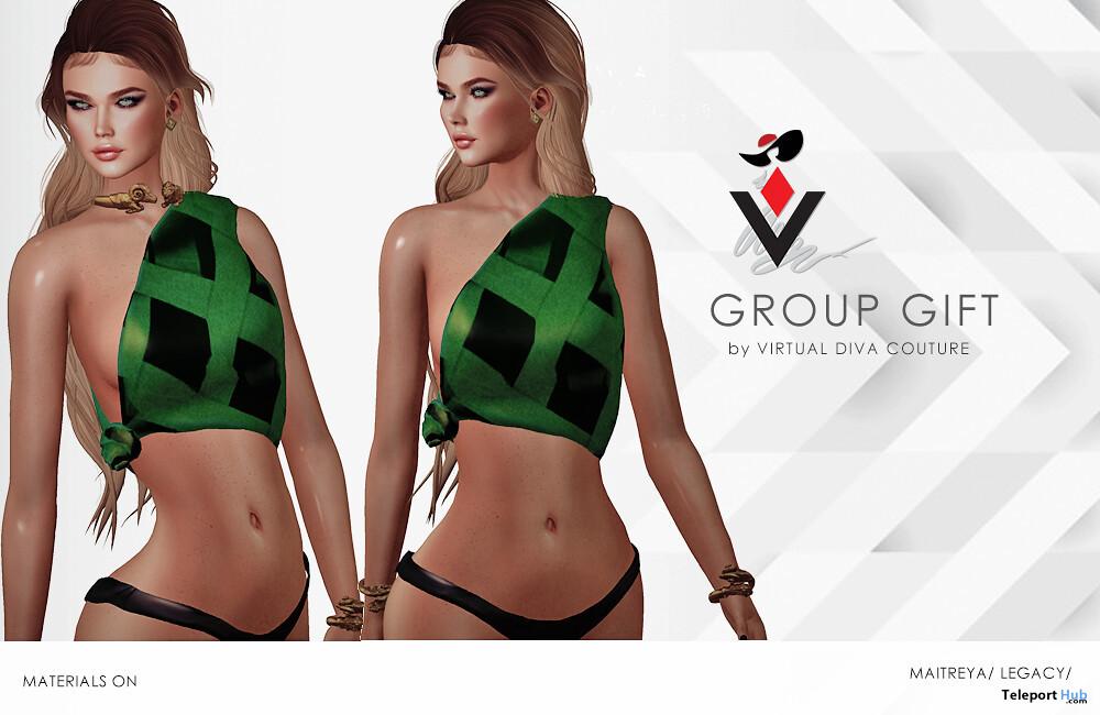Elisa Top November 2019 Group Gift by Virtual Diva Couture - Teleport Hub - teleporthub.com