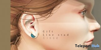 Line Stad Earrings November 2019 Group Gift by Cinoe - Teleport Hub - teleporthub.com
