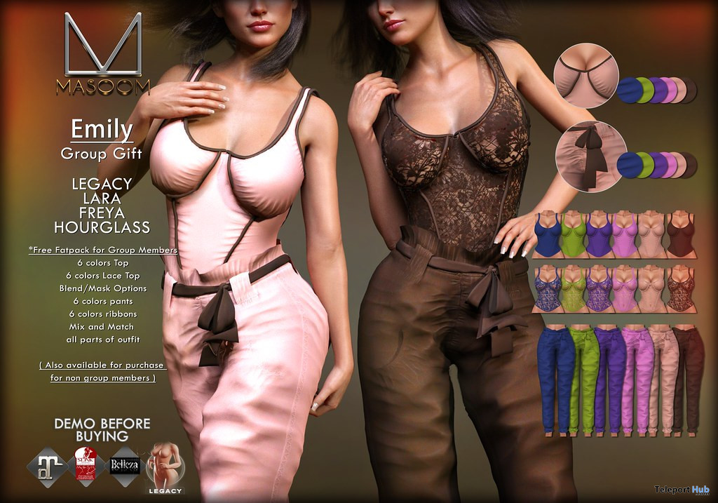 Emily Outfit Fatpack November 2019 Group Gift by Masoom - Teleport Hub - teleporthub.com