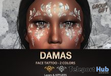 Damas Face Tattoo November 2019 Group Gift by Mad' - Teleport Hub - teleporthub.com
